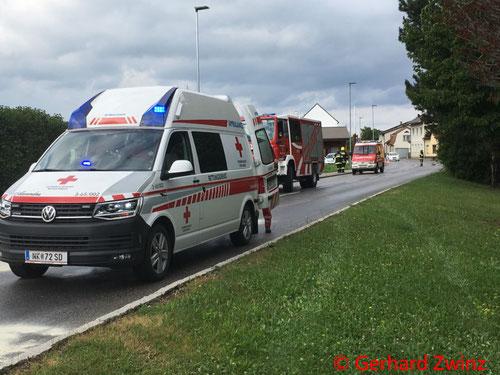 Feuerwehr, Blaulicht, Motorrad, Bergung, Ternitz-Pottschach