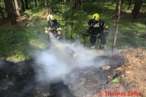 Feuerwehr, Blaulicht, BFV Knittelfeld, Unfall, Motorrad, B77, Gaberl