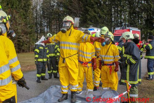 Feuerwehr, Blaulicht, Strahlenschutzübung, Bad Leonfelden, BFKDO Urfahr-Umgebung