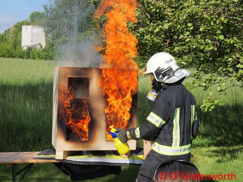 Feuerwehr, Blaulicht, Übung, Gebäudebrände, FF Grafenwörth, Unterabschnittsübung
