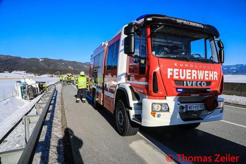 Feuerwehr; Blaulicht; BFV Knittelfeld; S36; LKW; PKW; Unfall;