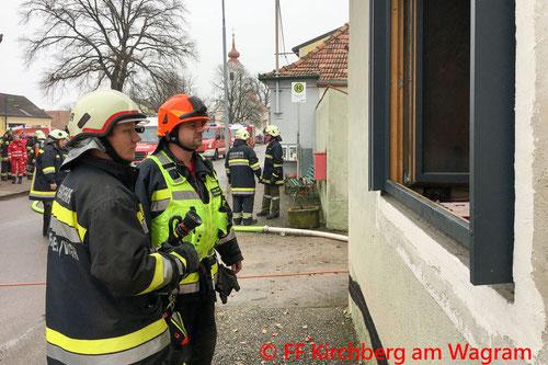 Feuerwehr; Blaulicht; FF Kirchberg am Wagram; Brand; Altbau; Sanierung;