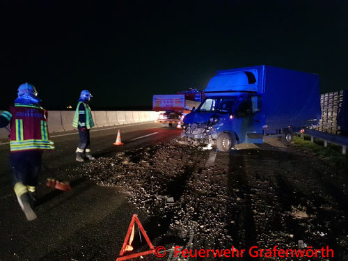 Feuerwehr; Blaulicht; FF Grafenwörth; PKW; Unfall; S5;