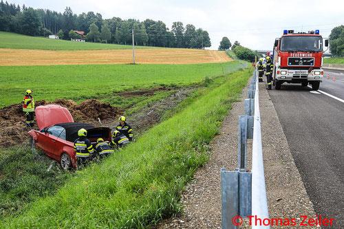 Feuerwehr, Blaulicht, Knittelfeld, S36, Verkehrsunfall, PKW