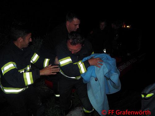 Feuerwehr, Blaulicht, FF Grafenwörth, Jungschwan, Verletzt, gerettet