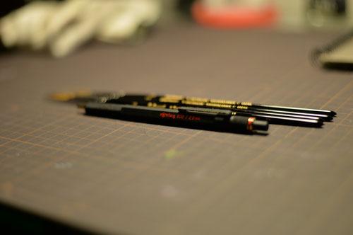 ロットリングと熊野筆