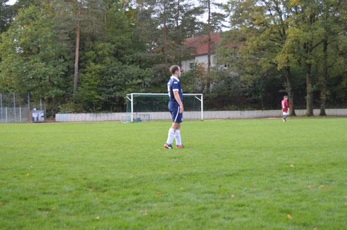 """Der """"Center"""" Malte Hawerkamp setzte die taktischen Vorgaben des Trainerteams mit Bravour und Fleißsternchen um und erarbeitete sich den Titel """"Man of the Match"""" redlich."""