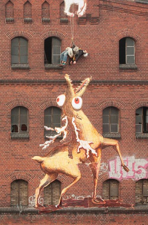 Une des images de l'oeuvre Animae Dementia réalisée par les artistes Rö et L'Homme Pendu en 2011.