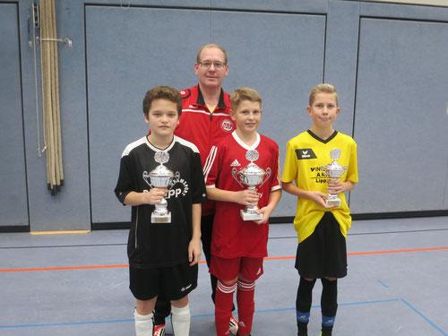 Siegerehrung D-Jugend durch Jugendleiter Martin Stockhofe
