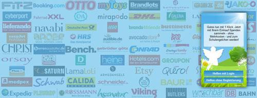 Hier sehen Sie eine Auswahl an Firmen, die bei Schulengel mitmachen.