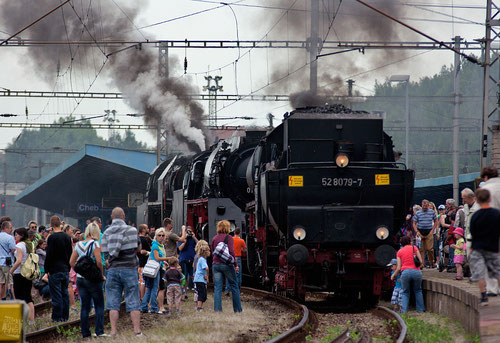 ... großer Auflauf im Bahnhof Cheb (Eger)