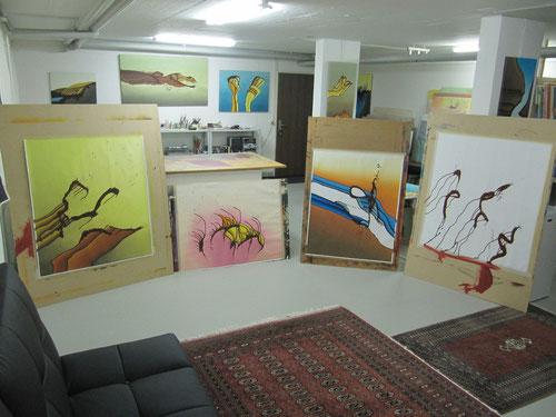 Möchten Sie  den Künstler im Atelier treffen? Vereinbaren Sie einen Termin über die Kontaktseite.