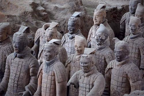 Guerreros de terracota de Xian. Foto (cc): Foursummers/ Pixabay