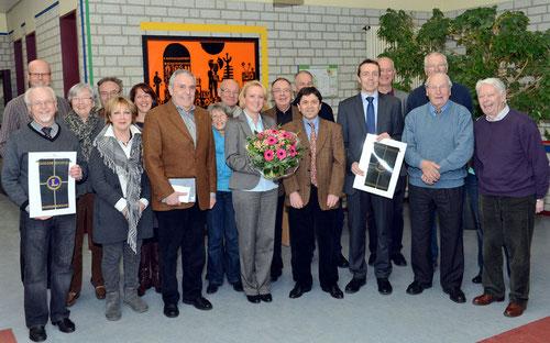11.03.2013 Besuch der Behindertenwerkstätten Haus Freudenberg - Kleve, verbunden mit einer Spende von 3000 Euro.