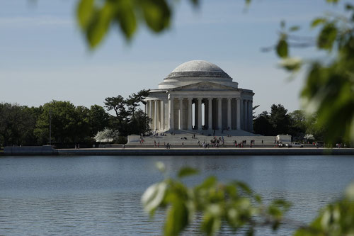 Jefferson Memorial in Washington DC, Architektur, Spiegelung