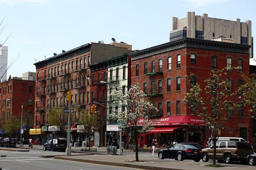 Straßenszene in Harlem, New York