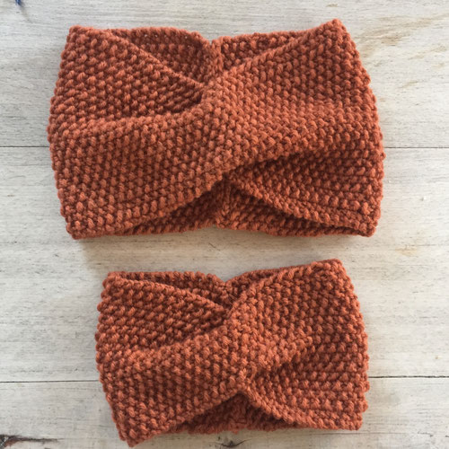 Stirnband aus Wolle von BC Garn Semilla Grosso