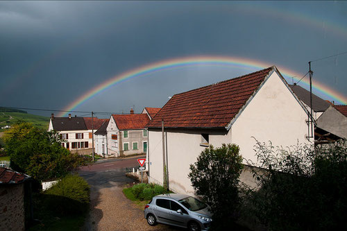 Horizon to horizon rainbow in Reuilly, France
