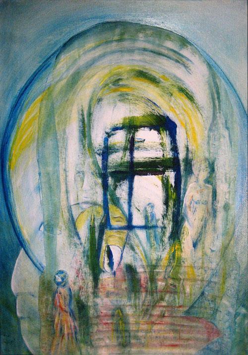 Acryl auf Leinwand ,50 x 70 cm , Surealismus