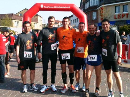 Beim Hauptlauf über 10 km gingen an den Start:     Torsten Schulz, Matthias Reißner, Timo Görlitz, Thorsten Themm, Mirko Nitschmann, Guido Wieck