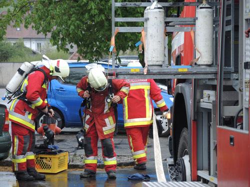 Alarmübung Feuerwehr Böttstein-Leuggern