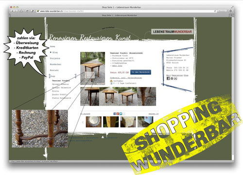 Shopping Wunderbar - WebShop Relaunch - Lebenstraum Wunderbar
