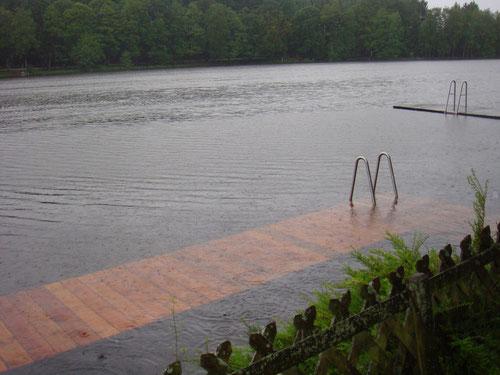 Hochwasser am Holzöstersee