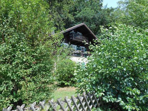 Blick vom Steg auf Ihr Ferienhaus