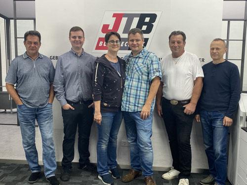 Das JTB-Team mit Jörg Bücher, Gründer der JTB-Bürotechnik für gebrauchte Multifunktionsdrucker, Laserdrucker, Kopierer