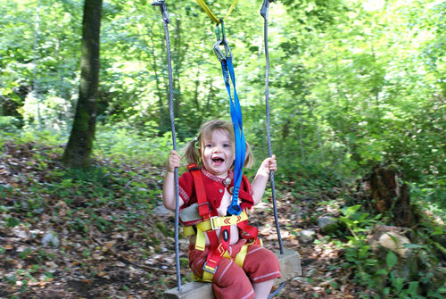 Tyroliennes adaptée aux enfants de 2 ans à 5 ans
