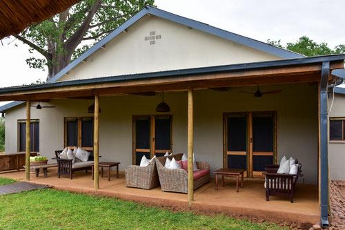 ...das Baobab Hill Bush House für uns alleine in Pafuri
