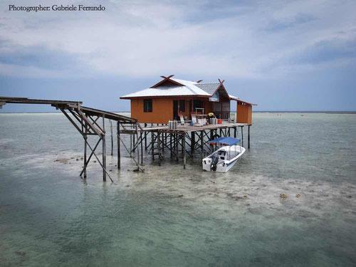 Alloggio su palafitte a Mabul - Borneo Malese