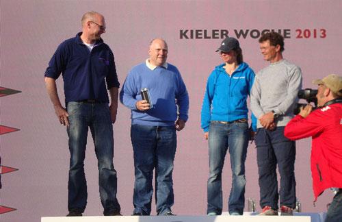 Strolch Crew: Bernd, Michael (Captain), Maja, Jan (v.l.n.r.) - Foto: Anonym