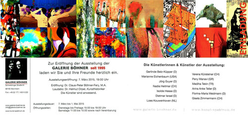 Einladung Galerie Böhner seit 1995