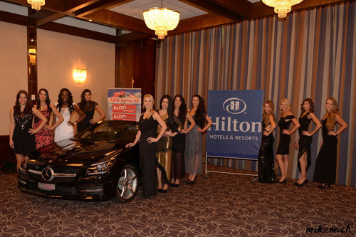 Miss Auto Zürich 2013 Finalistinnen im Hilton