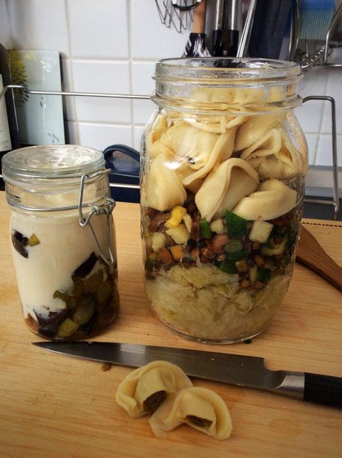 Meal Prep: Frisches Sauerkraut, Linsensalat, Tortellini