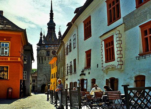 der berühmte Glocken-Stuhl von Schäßburg