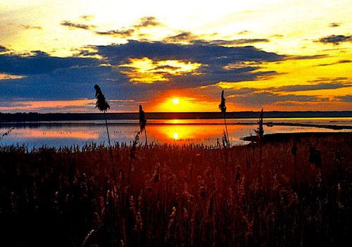 Sonnenuntergang am Dnister