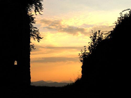 das Abend-Panorama reichte  bis hinüber in die französischen Vogesen