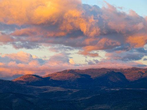 Panorama von unserem Stellplatz in Delphi