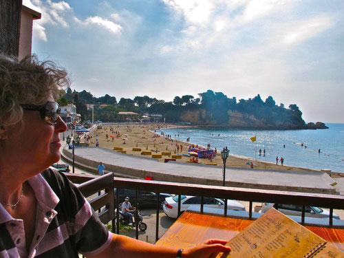 im ältesten Strand-Restaurant von Ulci