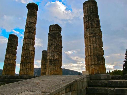 die Original-Säulen des Apollon-Tempels