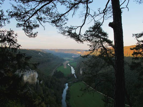 der Donaudurchbruch in der Schwäbischen Alb  - mit Kloster Beuron