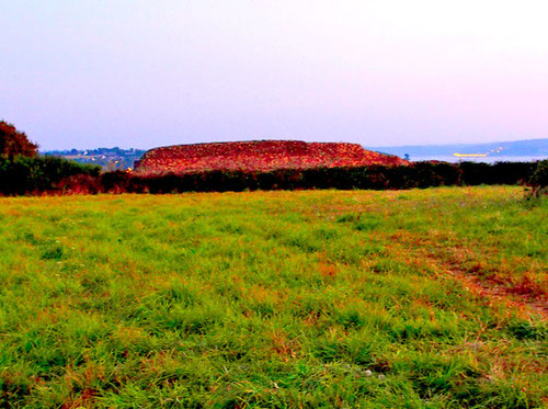 das National Monument - Chairn de Barnemez - im Abendlicht