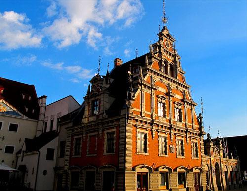 Altstadt von Riga im Abendlicht