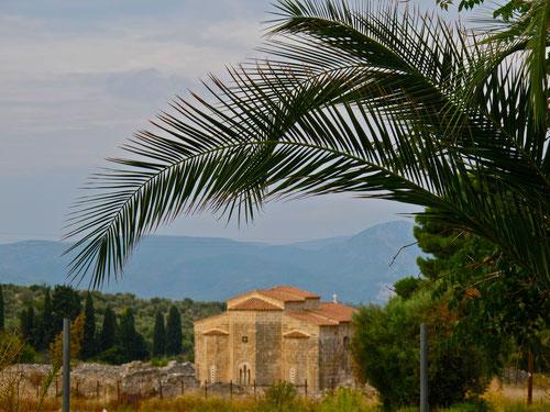 unser Tagesziel war die Monastrie St. Anna in Malesina