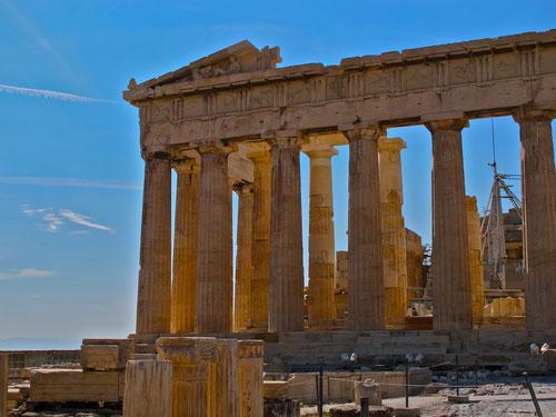 der übermächtige Bau des Parthenon