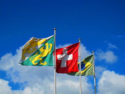 im Dreiländer-Eck: Deutschland - Schweiz - Frankreich