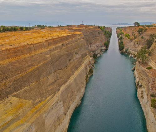 der legendäre Kanal von Korinth