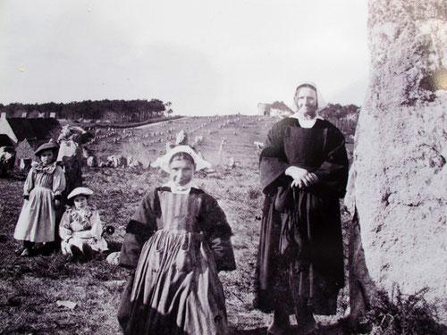 im Jahre 1912 - vor den Steinreihen in Le Menec